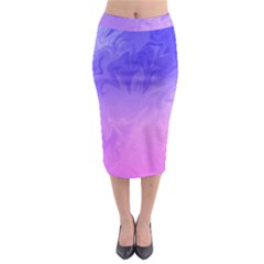 Ombre Purple Pink Midi Pencil Skirt by BrightVibesDesign