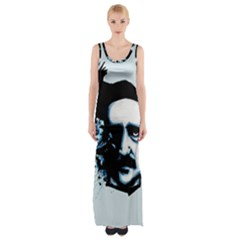 Edgar Allan Poe Crows Maxi Thigh Split Dress by lvbart