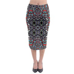 Sea Red Midi Pencil Skirt by MRTACPANS