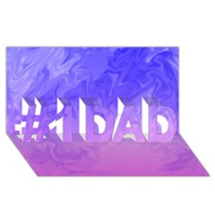 Ombre Purple Pink #1 Dad 3d Greeting Card (8x4)  by BrightVibesDesign
