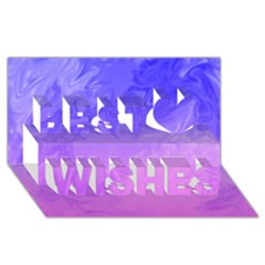 Ombre Purple Pink Best Wish 3d Greeting Card (8x4)  by BrightVibesDesign