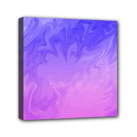 Ombre Purple Pink Mini Canvas 6  x 6  by BrightVibesDesign