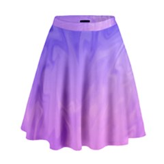Ombre Purple Pink High Waist Skirt by BrightVibesDesign