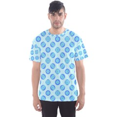 Pastel Turquoise Blue Retro Circles Men s Sport Mesh Tee by BrightVibesDesign
