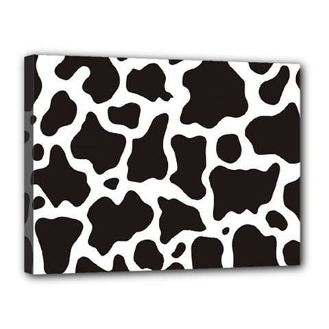 Cow Pattern Canvas 16  X 12  by sifis
