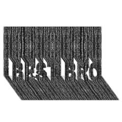 Dark Grunge Texture Best Bro 3d Greeting Card (8x4)  by dflcprints