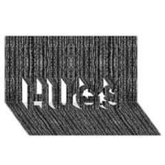 Dark Grunge Texture HUGS 3D Greeting Card (8x4)  by dflcprints