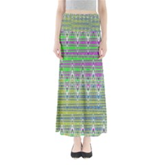 Colorful Zigzag Pattern Maxi Skirts by BrightVibesDesign