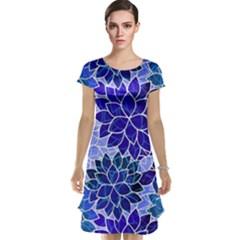 Azurite Blue Flowers Cap Sleeve Nightdress by KirstenStar