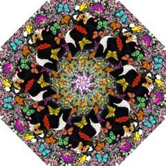 Freckles In Butterflies I, Black White Tux Cat Golf Umbrellas by DianeClancy