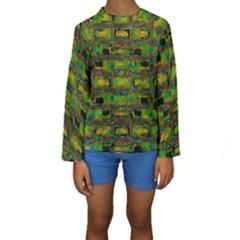 Paint bricks                                                                  Kid s Long Sleeve Swimwear by LalyLauraFLM