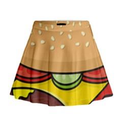 Cheeseburger Mini Flare Skirt