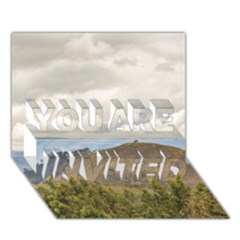 Ecuadorian Landscape At Chimborazo Province You Are Invited 3d Greeting Card (7x5)  by dflcprints