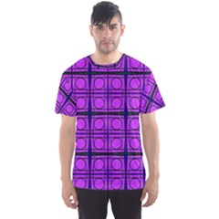 Bright Pink Mod Circles Men s Sport Mesh Tee by BrightVibesDesign