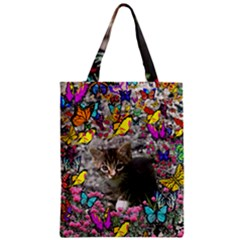 Emma In Butterflies I, Gray Tabby Kitten Classic Tote Bag by DianeClancy