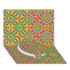 Modern Colorful Geometric Circle Bottom 3d Greeting Card (7x5)  by dflcprints