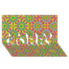 Modern Colorful Geometric Sorry 3d Greeting Card (8x4)  by dflcprints
