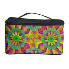 Modern Colorful Geometric Cosmetic Storage Case by dflcprints