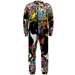 Freckles In Butterflies I, Black White Tux Cat Onepiece Jumpsuit (men)  by DianeClancy