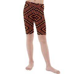 FIRE N FLAME Kid s Mid Length Swim Shorts by MRTACPANS