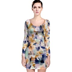 Lee Abstract Long Sleeve Bodycon Dress by LisaGuenDesign