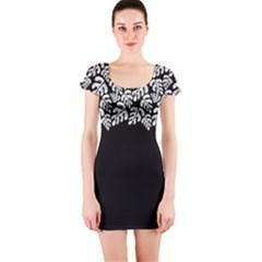 Tropical Plant Short Sleeve Bodycon Dress by olgart