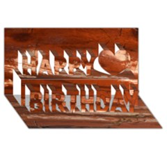 Red Earth Natural Happy Birthday 3d Greeting Card (8x4)  by UniqueCre8ion