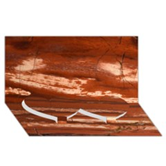 Red Earth Natural Twin Heart Bottom 3d Greeting Card (8x4)  by UniqueCre8ion