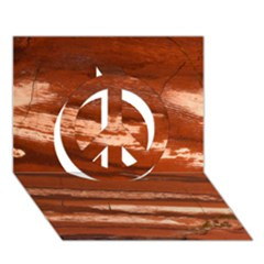 Red Earth Natural Peace Sign 3d Greeting Card (7x5)  by UniqueCre8ion