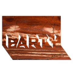 Red Earth Natural Party 3d Greeting Card (8x4)  by UniqueCre8ion