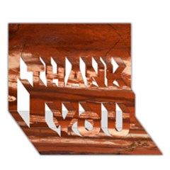 Red Earth Natural Thank You 3d Greeting Card (7x5)  by UniqueCre8ion