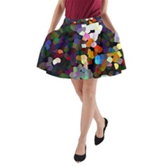 Artist At Time Square1 A Line Pocket Skirt by BIBILOVER