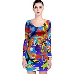 Ar000803 (3)11111 Long Sleeve Velvet Bodycon Dress by BIBILOVER