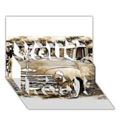 Vintage Chevrolet Pick Up Truck You Rock 3d Greeting Card (7x5)  by MichaelMoriartyPhotography