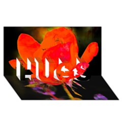 Red Beauty Hugs 3d Greeting Card (8x4)  by MichaelMoriartyPhotography
