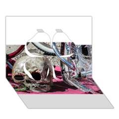 Skull And Bike Clover 3d Greeting Card (7x5)  by MichaelMoriartyPhotography