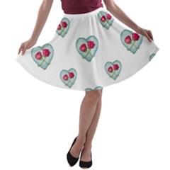 Love Ornate Motif Print A Line Skater Skirt by dflcprintsclothing