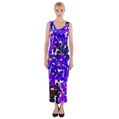 Abstract Land2 11 Fitted Maxi Dress by BIBILOVER