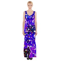 Abstract Land2 11 Maxi Thigh Split Dress by BIBILOVER