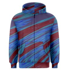Swish Blue Red Abstract Men s Zipper Hoodie by BrightVibesDesign