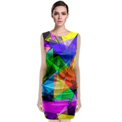 Colorful triangles                     Classic Sleeveless Midi Dress by LalyLauraFLM