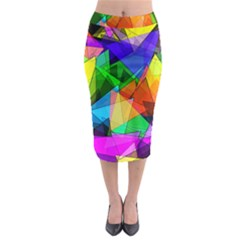 Colorful triangles                                                                    Midi Pencil Skirt by LalyLauraFLM