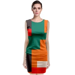 Rectangles and squares  in retro colors                      Classic Sleeveless Midi Dress by LalyLauraFLM