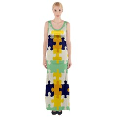 Puzzle Pieces                                                                     Maxi Thigh Split Dress by LalyLauraFLM
