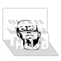 Baldhead Hero Comic Illustration Work Hard 3d Greeting Card (7x5)  by dflcprints