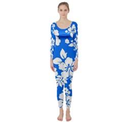 Blue Hawaiian Long Sleeve Catsuit by AlohaStore