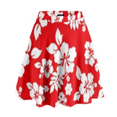 Red Hawaiian High Waist Skirt by AlohaStore