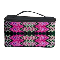 Pattern Tile Pink Green White Cosmetic Storage Case by BrightVibesDesign
