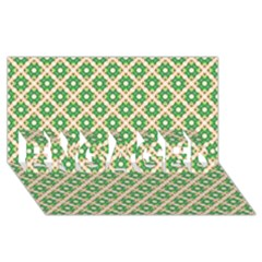 Crisscross Pastel Green Beige Engaged 3d Greeting Card (8x4)  by BrightVibesDesign