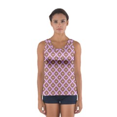 Crisscross Pastel Pink Yellow Tops by BrightVibesDesign